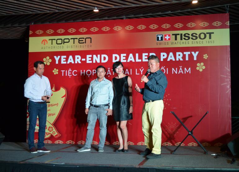 Đồng Hồ Hải Triều Nhận Giải Top 1 Đại Lý Đồng Hồ Tissot 2018 Tiệc họp mặt đại lý cuối năm 2018