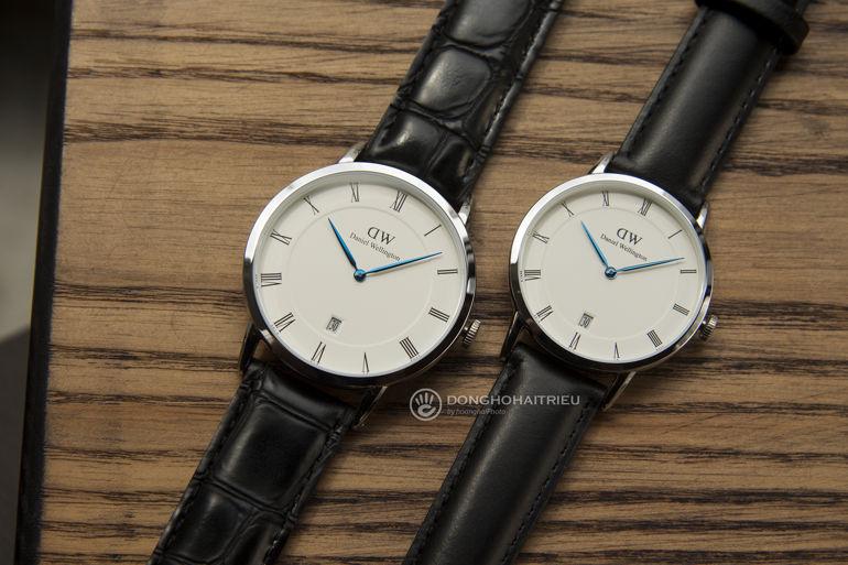 Review khám phá đồng hồ Daniel Wellington (DW) Dapper kim xanh nổi tiếng Bộ đôi Dapper Reading 38 Silver DW00100108 và Sheffield 34 Silver DW00100096
