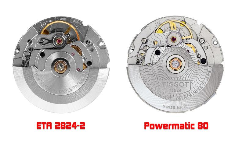 So sánh đồng hồ dùng máy ETA 2824-2 và Powermatic 80 máy ETA 2824-2 và máy Powermatic 80