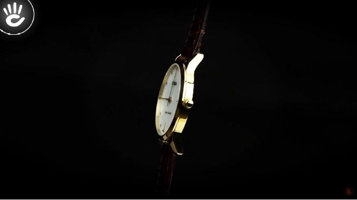Cận cảnh đồng hồ Doxa D158KWH mặt số xà cừ - Ảnh 4
