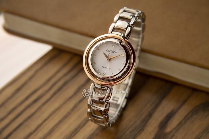 Đồng hồ nữ Citizen EM0668-83A bộ máy năng lượng ánh sáng - Ảnh 1
