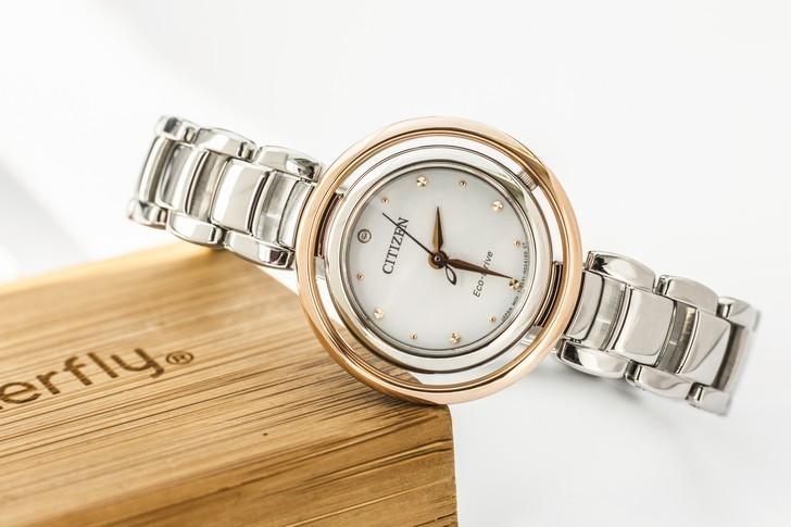 Đồng hồ nữ Citizen EM0668-83A bộ máy năng lượng ánh sáng - Ảnh 2