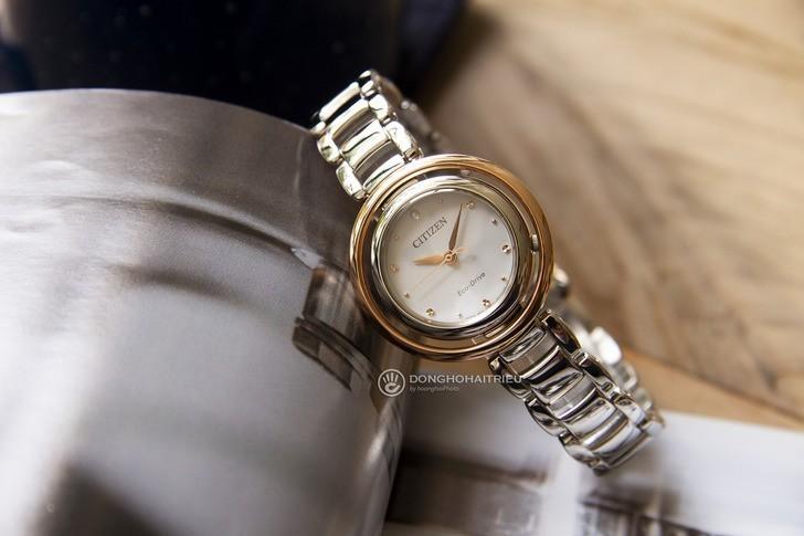 Đồng hồ nữ Citizen EM0668-83A bộ máy năng lượng ánh sáng - Ảnh 6
