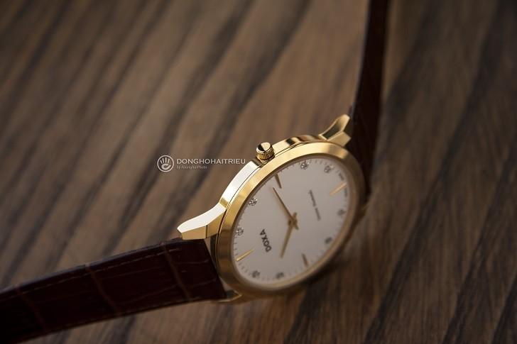 Đồng hồ Doxa D157KWH siêu mỏng, đính kim cương dành cho nam - Ảnh 6