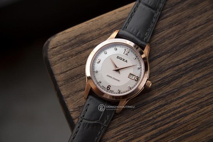 Đồng hồ Doxa D168RWL: Siêu mỏng và đính 8 viên kim cương - Ảnh 1