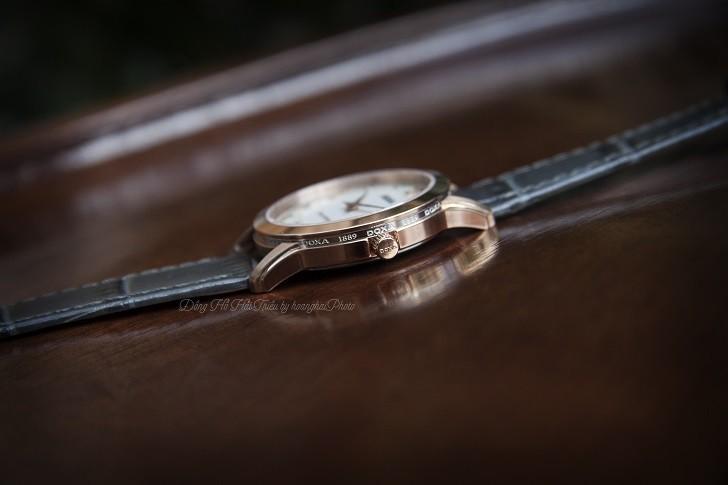 Đồng hồ Doxa D168RWL: Siêu mỏng và đính 8 viên kim cương - Ảnh 3