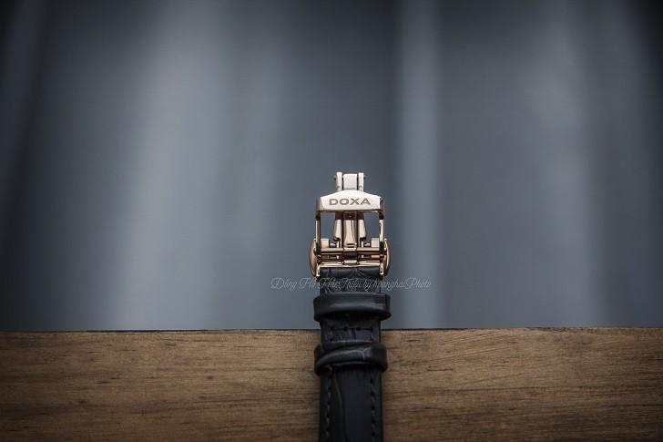 Đồng hồ Doxa D168RWL: Siêu mỏng và đính 8 viên kim cương - Ảnh 5