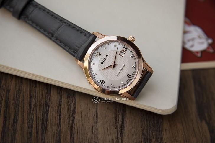Đồng hồ Doxa D168RWL: Siêu mỏng và đính 8 viên kim cương - Ảnh 7