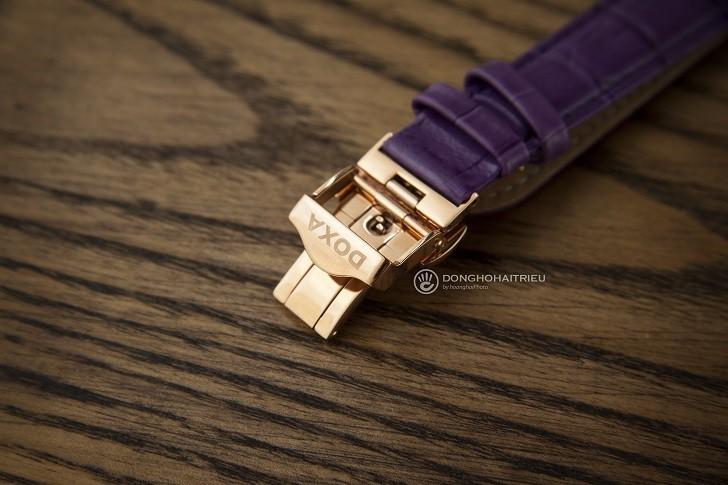 Đồng hồ Doxa D182RWP ấn tượng với dây đeo bằng da màu tím - Ảnh 3