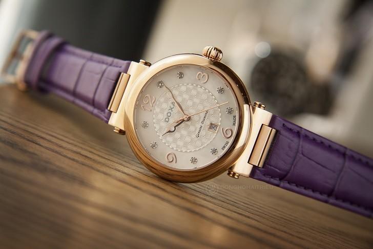 Đồng hồ Doxa D182RWP ấn tượng với dây đeo bằng da màu tím - Ảnh 5
