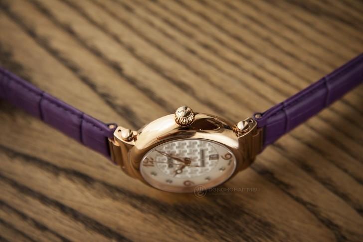 Đồng hồ Doxa D182RWP ấn tượng với dây đeo bằng da màu tím - Ảnh 6