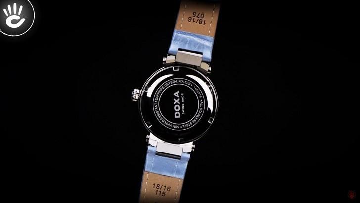 Đồng hồ Doxa D182SWB đính 8 viên kim cương trên mặt số xà cừ - Ảnh 3