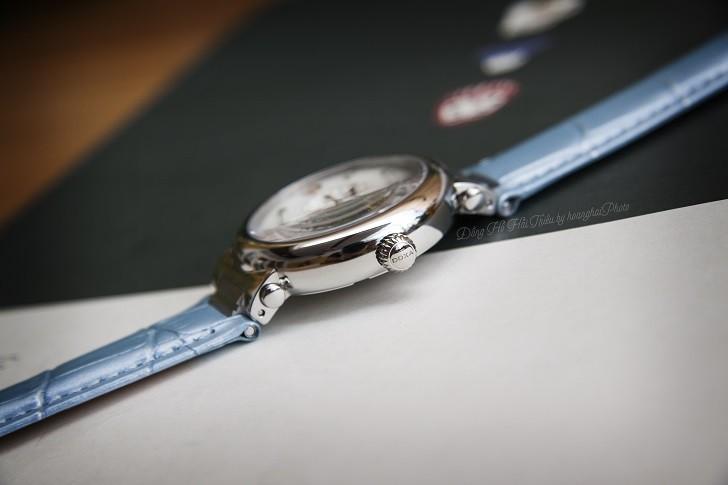 Đồng hồ Doxa D182SWB đính 8 viên kim cương trên mặt số xà cừ - Ảnh 5