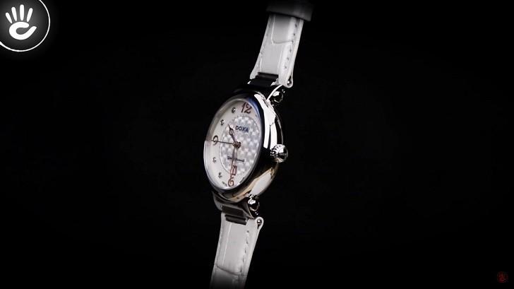 Giá trị thật 8 viên kim cương trên đồng hồ Doxa D182SWH - Ảnh 6