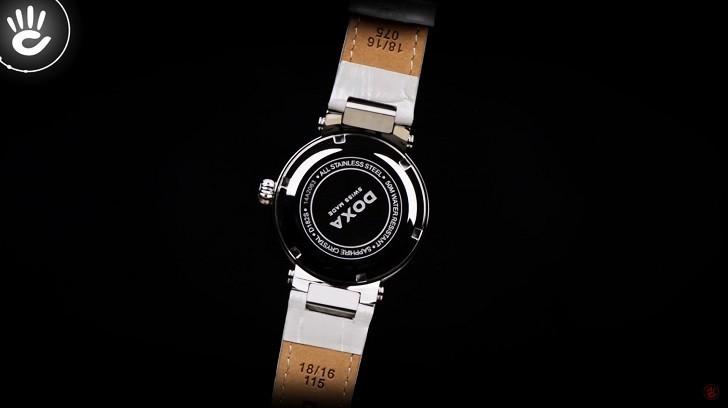 Giá trị thật 8 viên kim cương trên đồng hồ Doxa D182SWH - Ảnh 7