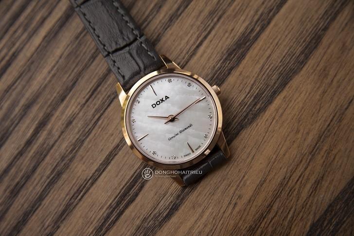 Review đồng hồ Doxa D158RWH được đính 8 viên kim cương - Ảnh 5