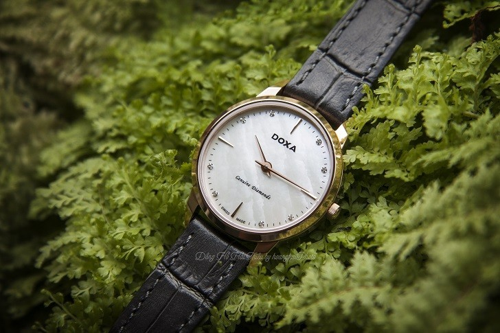 Review đồng hồ Doxa D158RWH được đính 8 viên kim cương - Ảnh 6