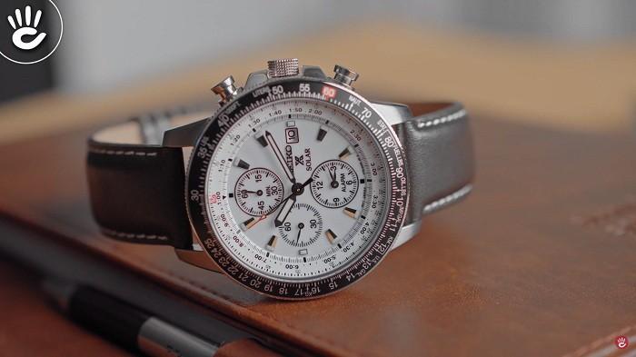 Đồng hồ Seiko Flightmaster Solar Chronograph SSC013P1 - 9