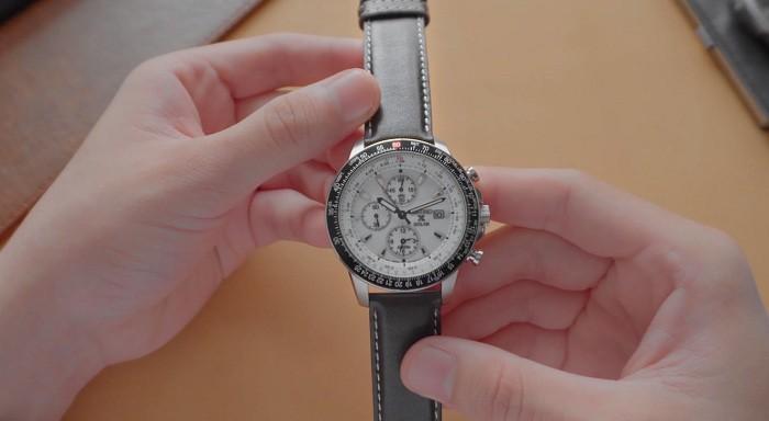 Đồng hồ Seiko Flightmaster Solar Chronograph SSC013P1 - 10