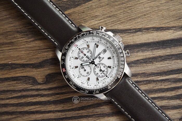Đồng hồ Seiko Flightmaster Solar Chronograph SSC013P1 - 6