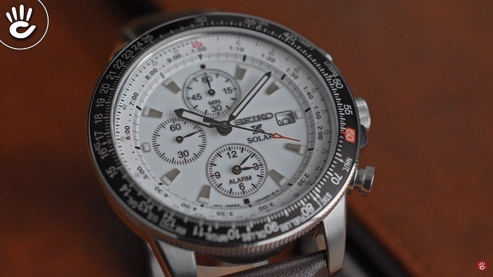 Đồng hồ Seiko Flightmaster Solar Chronograph SSC013P1 - 7