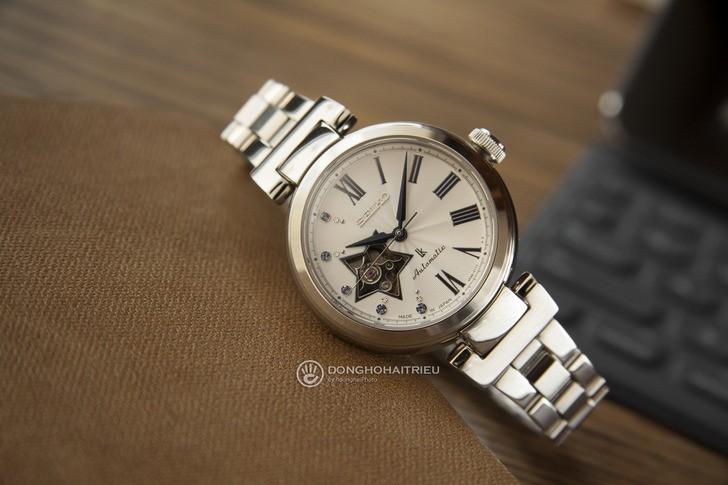 Đồng hồ Seiko SSA821J1 lộ cơ, đính kim cương sang trọng - Ảnh 1