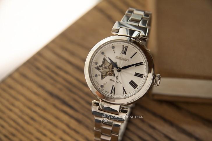 Đồng hồ Seiko SSA821J1 lộ cơ, đính kim cương sang trọng - Ảnh 2