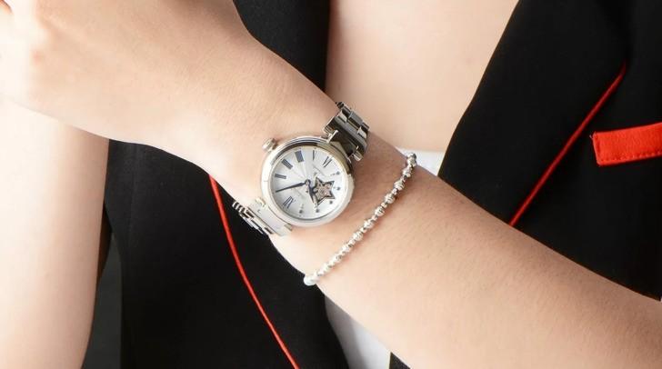 Đồng hồ Seiko SSA821J1 lộ cơ, đính kim cương sang trọng - Ảnh 3