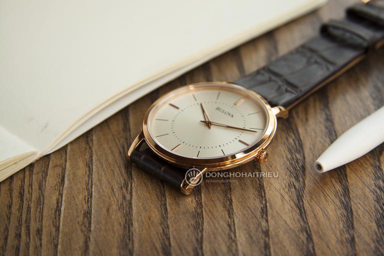 10 thương hiệu đồng hồ siêu mỏng nổi tiếng nhất Việt Nam - Bulova 97A126 mỏng 5mm