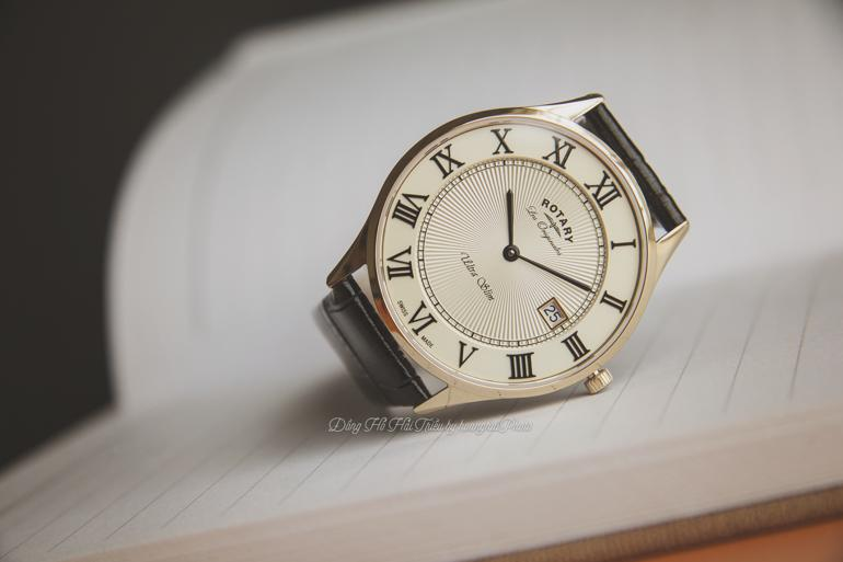 10 thương hiệu đồng hồ siêu mỏng nổi tiếng nhất Việt Nam - Rotary GS90803-03 mỏng 5mm