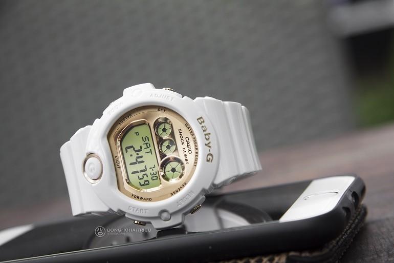 9 lưu ý đặc biệt quan trọng khi mua đồng hồ điện tử cho bé gái - Ảnh: Baby-G BG-6901-7DR