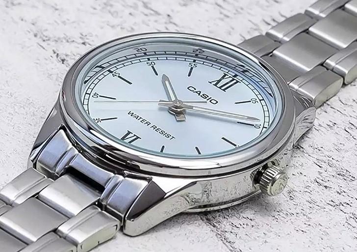 Đồng hồ Casio LTP-V005D-2B3UDF giá rẻ, thay pin miễn phí - Ảnh 3