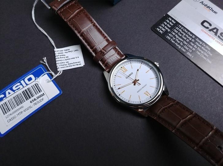 Đồng hồ Casio LTP-V005L-7B3UDF giá rẻ, thay pin miễn phí - Ảnh 4