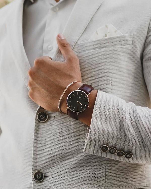 Đồng hồ Daniel Wellington DW00100130 siêu mỏng, thời trang - Ảnh 1