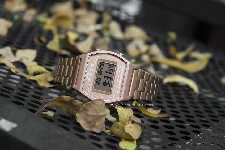 Đồng hồ điện tử Casio B640WC-5ADF mạ vàng hồng, hơn 7 tiện ích - Ảnh: 1
