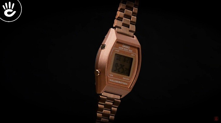 Đồng hồ điện tử Casio B640WC-5ADF mạ vàng hồng, hơn 7 tiện ích - Ảnh: 2