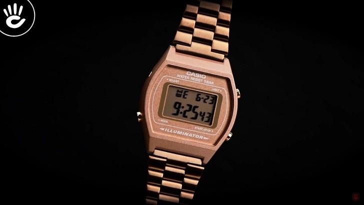 Đồng hồ điện tử Casio B640WC-5ADF mạ vàng hồng, hơn 7 tiện ích - Ảnh: 3