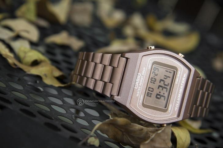 Đồng hồ điện tử Casio B640WC-5ADF mạ vàng hồng, hơn 7 tiện ích - Ảnh: 4