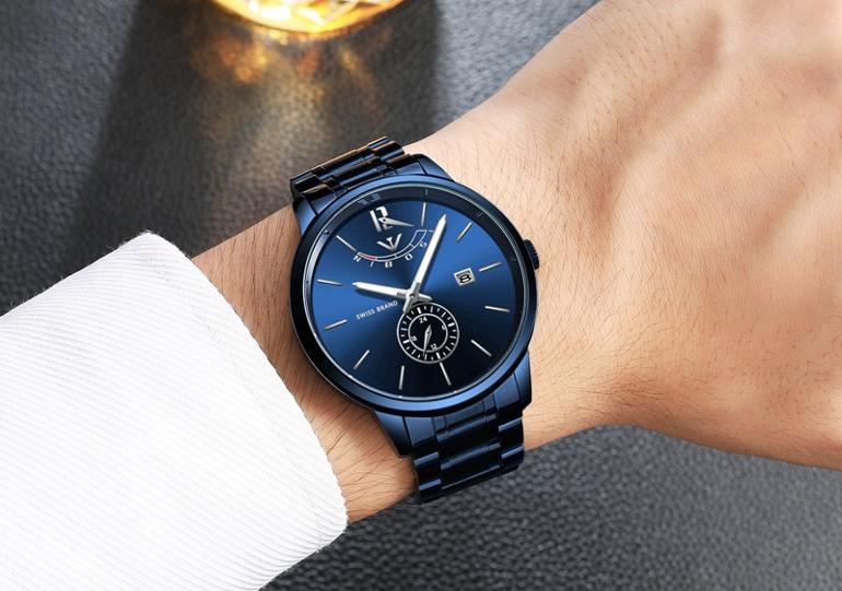 đồng hồ Nibosi mạ xanh