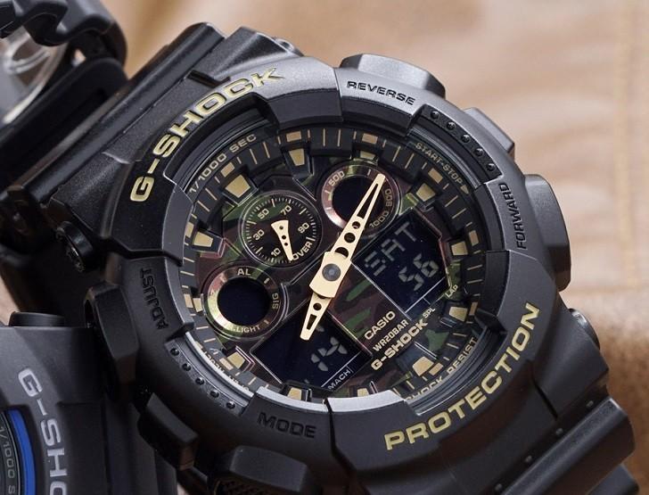 Mẫu G-Shock GA-100CF-1A9DR | Hơn 10 Tính Năng | Có Tachymeter - Ảnh: 3