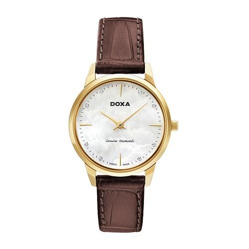 10 mẫu đồng hồ xà cừ, đính kim cương cho phụ nữ trung niên - Ảnh: Doxa D158KWH