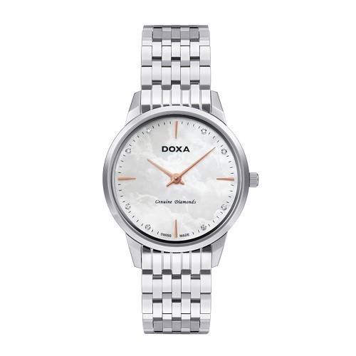 10 mẫu đồng hồ xà cừ, đính kim cương cho phụ nữ trung niên - Ảnh: Doxa D158SWH