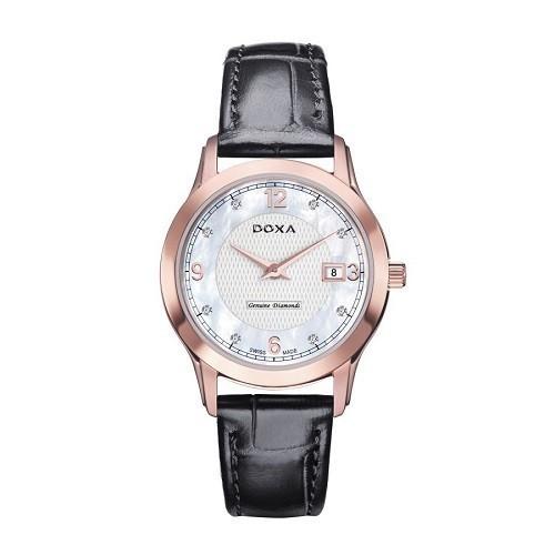 10 mẫu đồng hồ xà cừ, đính kim cương cho phụ nữ trung niên - Ảnh: Doxa D168RWL