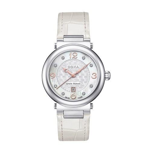 10 mẫu đồng hồ xà cừ, đính kim cương cho phụ nữ trung niên - Ảnh: Doxa D182SWH