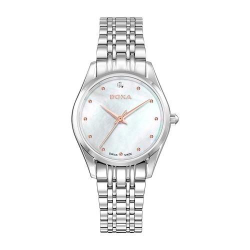 10 mẫu đồng hồ xà cừ, đính kim cương cho phụ nữ trung niên - Ảnh: Doxa D204SWH