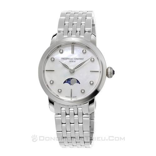 10 mẫu đồng hồ xà cừ, đính kim cương cho phụ nữ trung niên - Ảnh: Frederique Constant FC-206MPWD1S6B