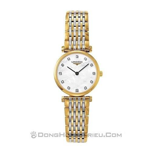 10 mẫu đồng hồ xà cừ, đính kim cương cho phụ nữ trung niên - Ảnh: Longines L4.209.2.87.7