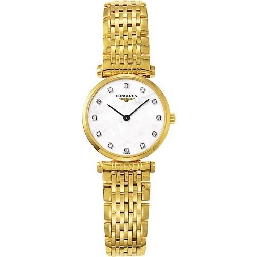 10 mẫu đồng hồ xà cừ, đính kim cương cho phụ nữ trung niên - Ảnh: Longines L4.209.2.87.8