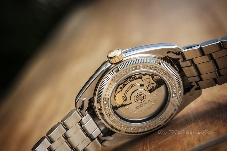 5 hãng đồng hồ nam automatic (Thụy Sỹ) nổi tiếng về đính kim cương - Ảnh: Doxa D171TWH