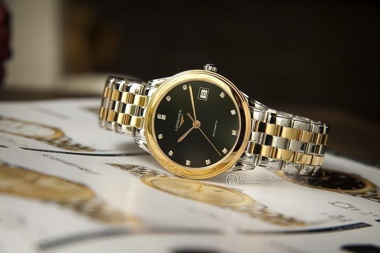 5 hãng đồng hồ nam automatic (Thụy Sỹ) nổi tiếng về đính kim cương - Ảnh: Longines L4.774.3.57.7